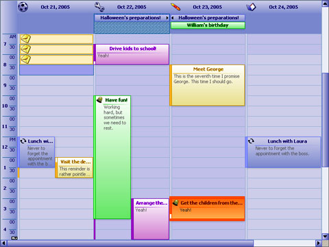 Click to view MindFusion.Scheduling for Silverlight 3.2.1 screenshot