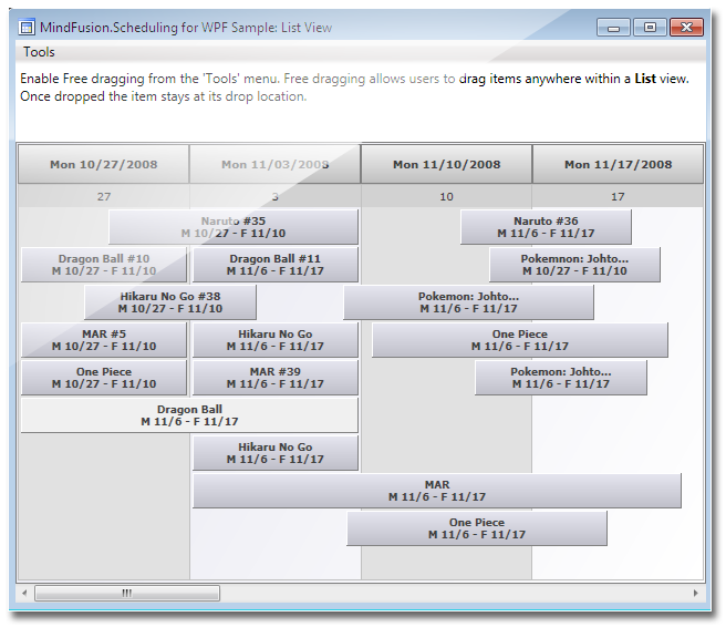 mindfusion scheduling for wpf