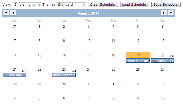 Calendar Planner Asp : Calendar and scheduling asp component timetable