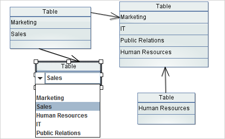 Java Diagram Control: Tables