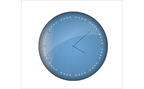 JavaScript Clock Gauge