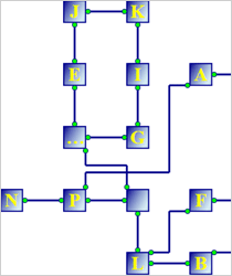 WinForms Diagram Component: Grid Layout