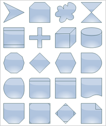 WinForms Diagram Control: Predefined Shapes