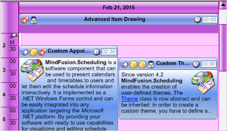 WinForms Scheduler: Custom Item Drawing