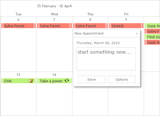 Js Calendar with Items