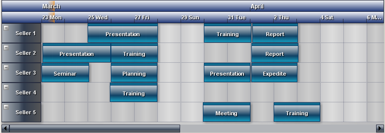 Calendar Planner Vb : Planner calendar and timetable component c