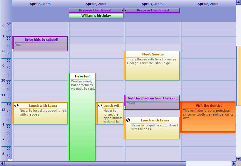 PlannerNet  Calendar And Timetable Component C Appointment