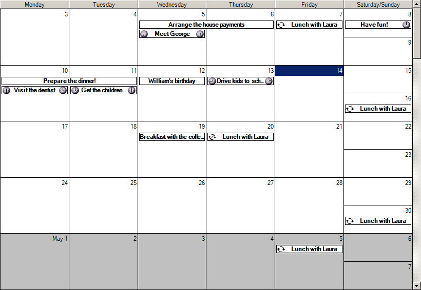 Planner.NET - Calendar and Timetable Component, C# ...