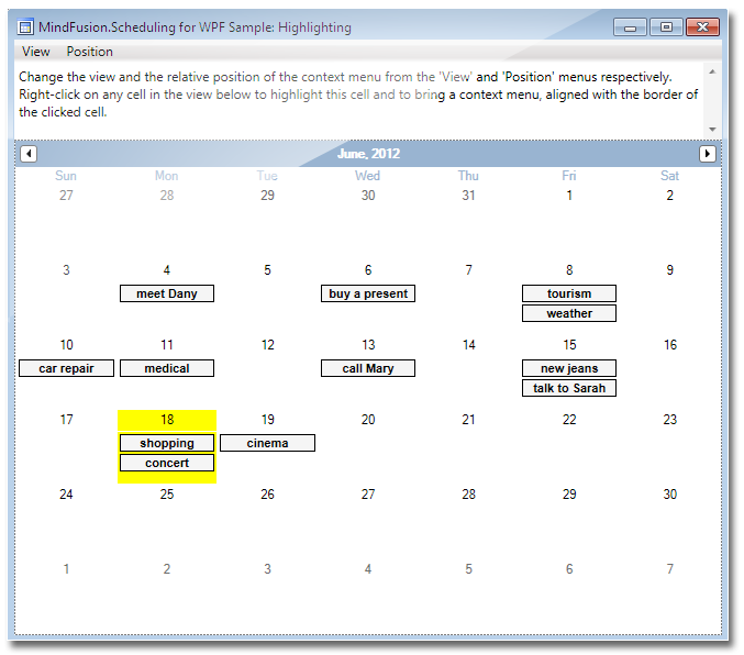 for WPF - Calendar and Schedule Control, Time Management, Appointment ...